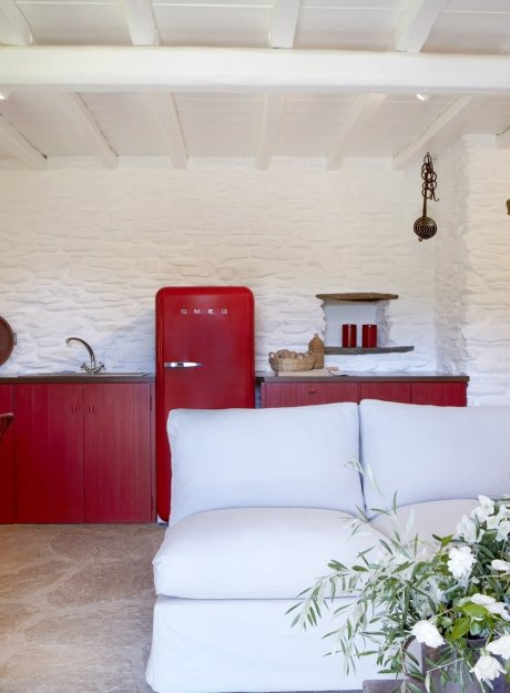 Red 3 beach houses <br> Tinos